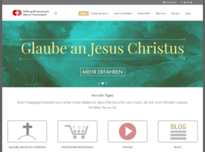 Screenshot der Missionswerk Heukelbach Website