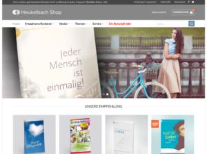Screenshot der Shop Seite von Missionswerk Heukelbach